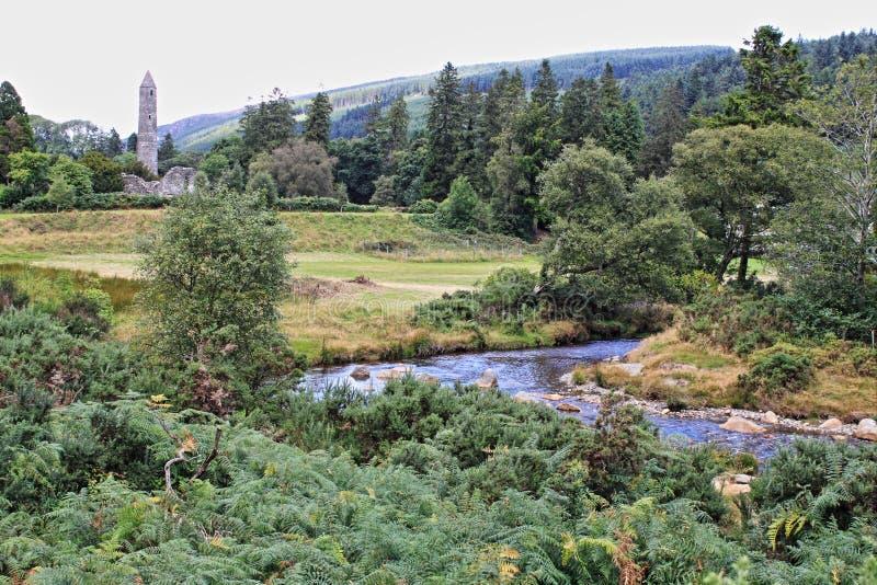 Site monastique avec de Glendalough photos libres de droits