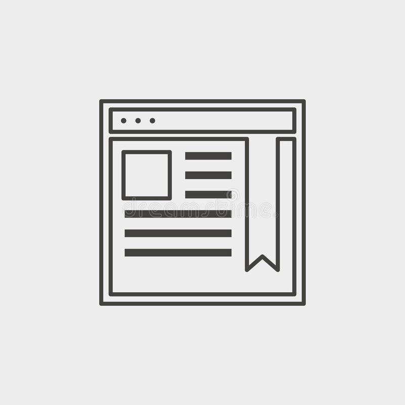 Site, network, outline, icon. Web Development Vector Icon. Element of simple symbol for websites, web design, mobile app, vector illustration