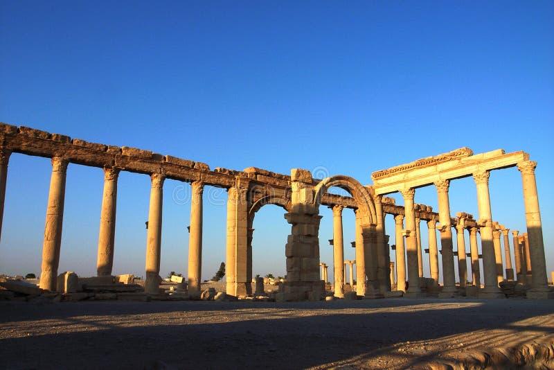 Site of Palmyra Syria royalty free stock photo