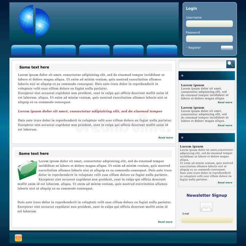 Site-Schablone vektor abbildung