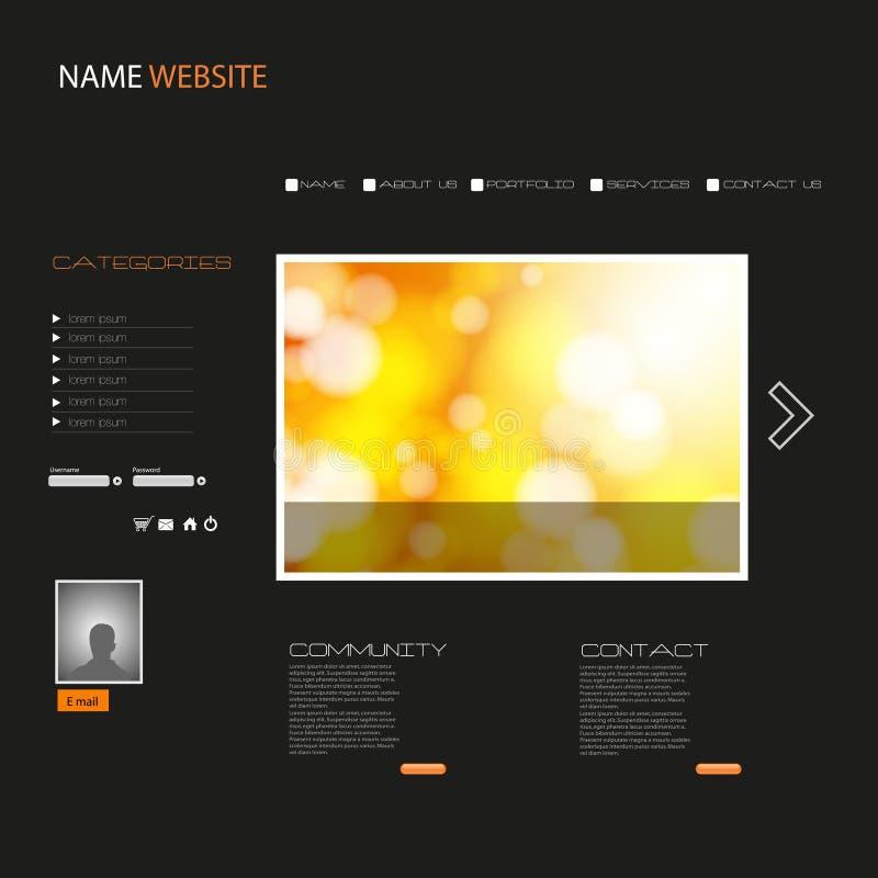 Site-Schablone stock abbildung