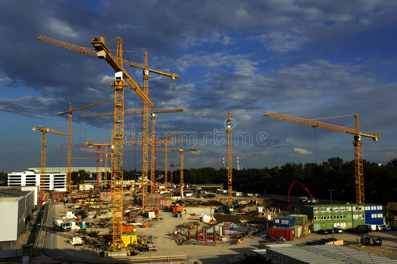 Download Site under construction stock image. Image of crane, structural - 20053607
