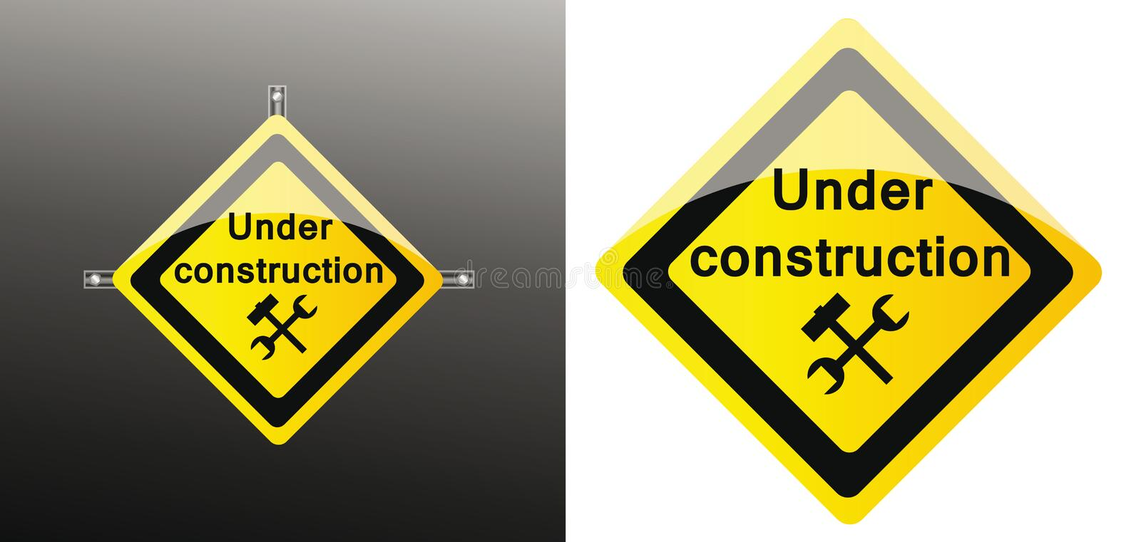 Site under construction. Vector web icon of site under construction royalty free illustration