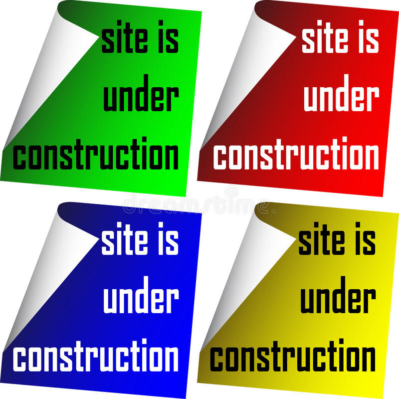 Download Site is under construction stock vector. Image of illustration - 23829861