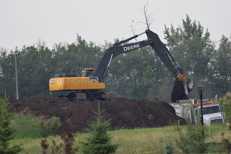 SITE UNDER CONSTRUCTION , EDMONTON ALBERTA stock photo
