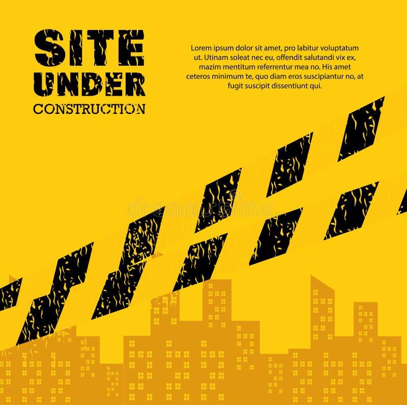 Site under construction industrail sign. Illustration eps 10 vector illustration