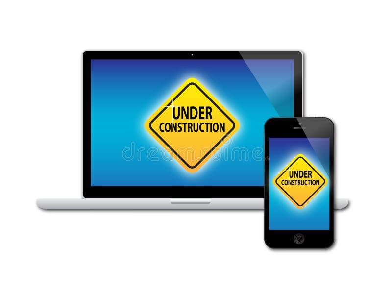 Site Under Construction Sign vector illustration