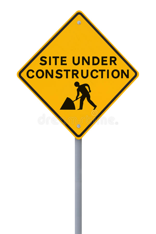 Download Site Under Construction (on White) Stock Image - Image: 25048981