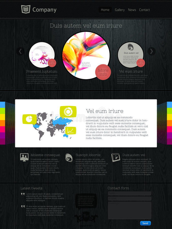 Site Web avec l'infographics illustration libre de droits