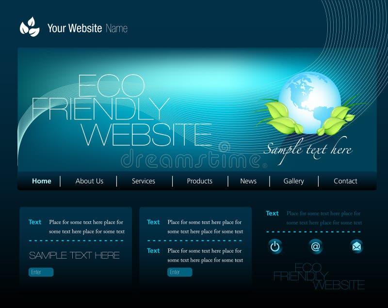 Site Web d'Eco illustration libre de droits