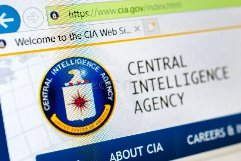 Site Web de CIA photographie stock libre de droits