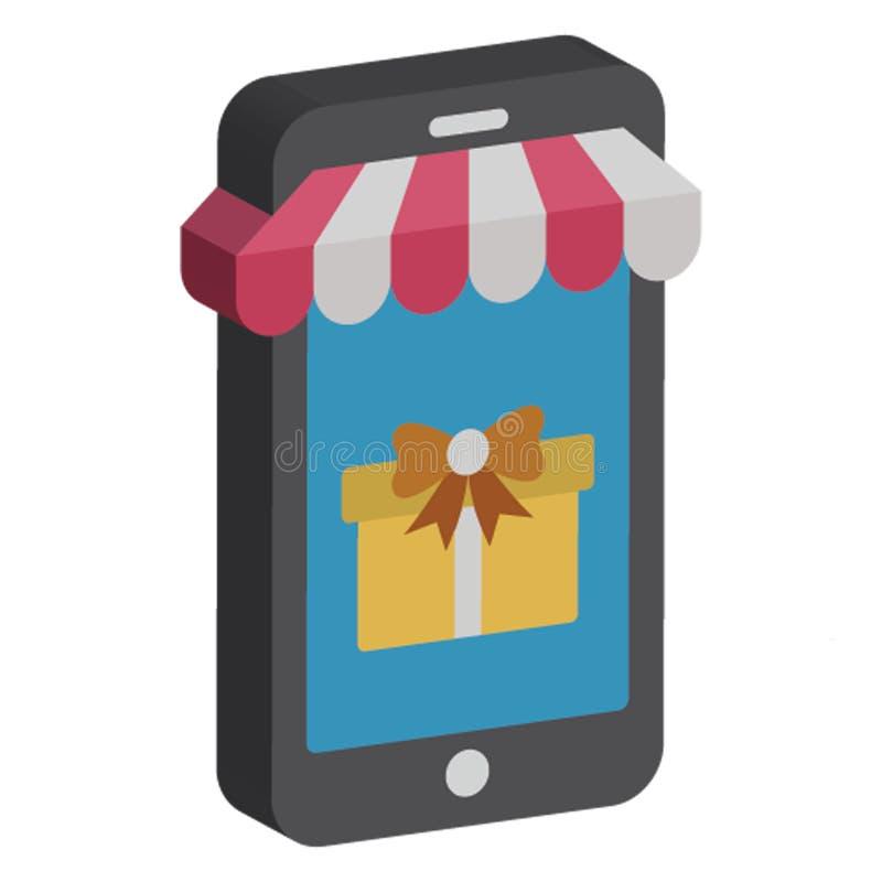Site Web de commerce électronique, icône d'isolement de achat de vecteur d'Internet qui peut être facilement éditée illustration de vecteur