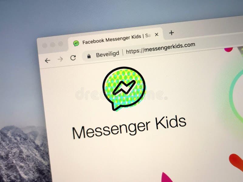 Site Web de messager Kids photos libres de droits