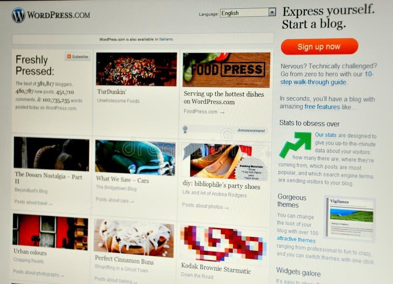 Site Web de presse de mot images libres de droits