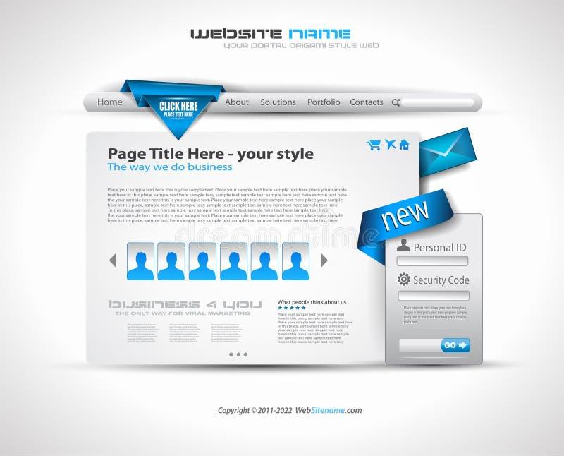 Site Web de technologie - conception élégante illustration libre de droits