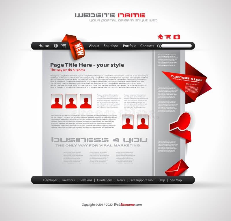 Site Web de technologie - conception élégante illustration stock