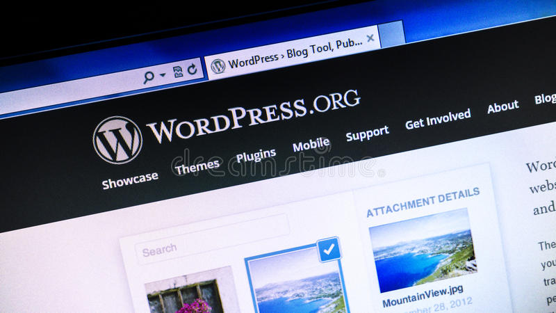 Site Web de Wordpress.org photographie stock