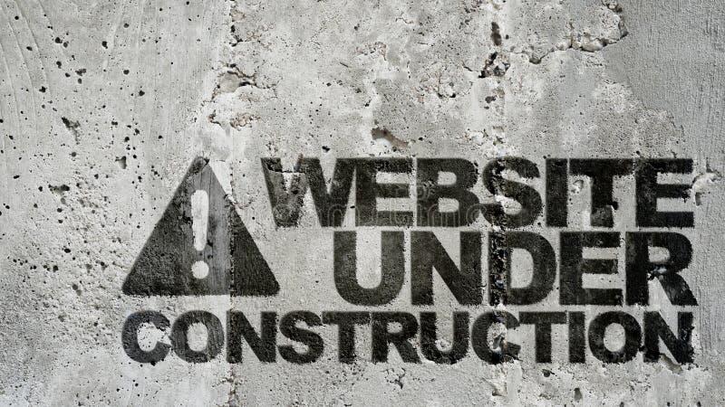 Site Web en construction ! photographie stock