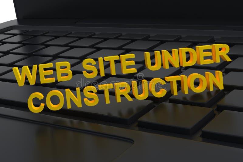 Site Web en construction photos libres de droits