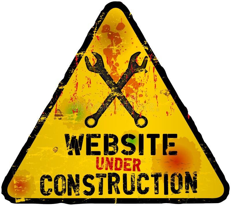 Site Web en construction illustration stock