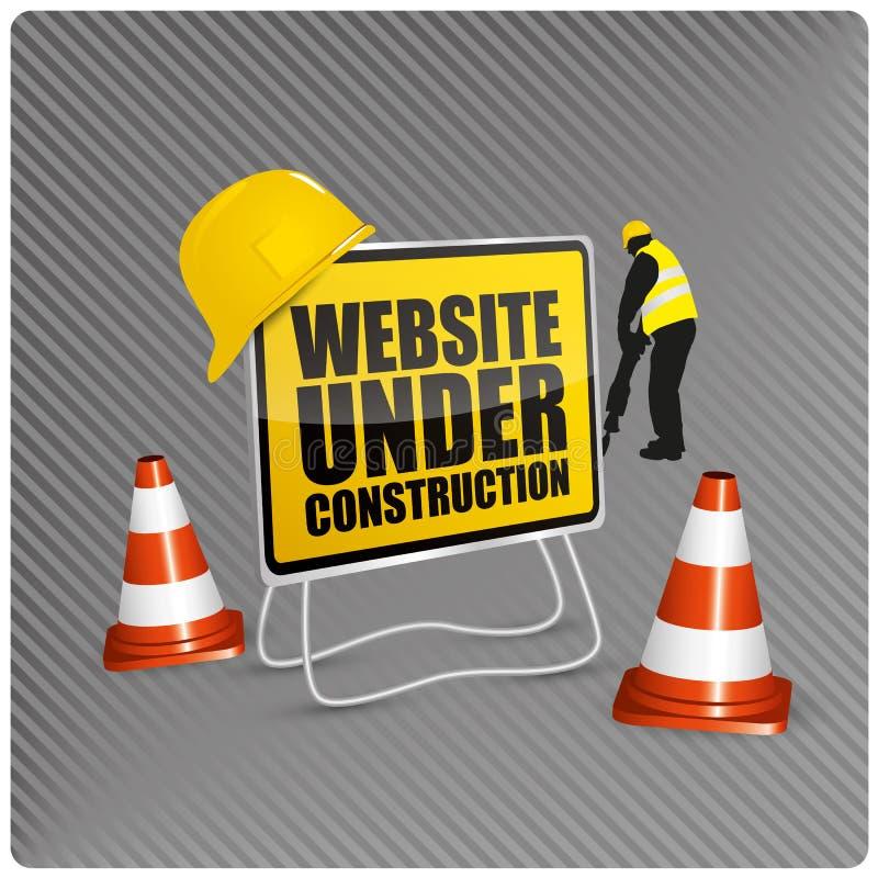 Site Web en construction illustration libre de droits