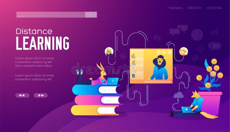 Site Web et concepts mobiles d'illustration de d?veloppement de site Web Placez du déroulement des opérations de projet, communic illustration libre de droits
