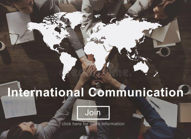 Site Web international Concep de mise en réseau de connexion de communication image libre de droits