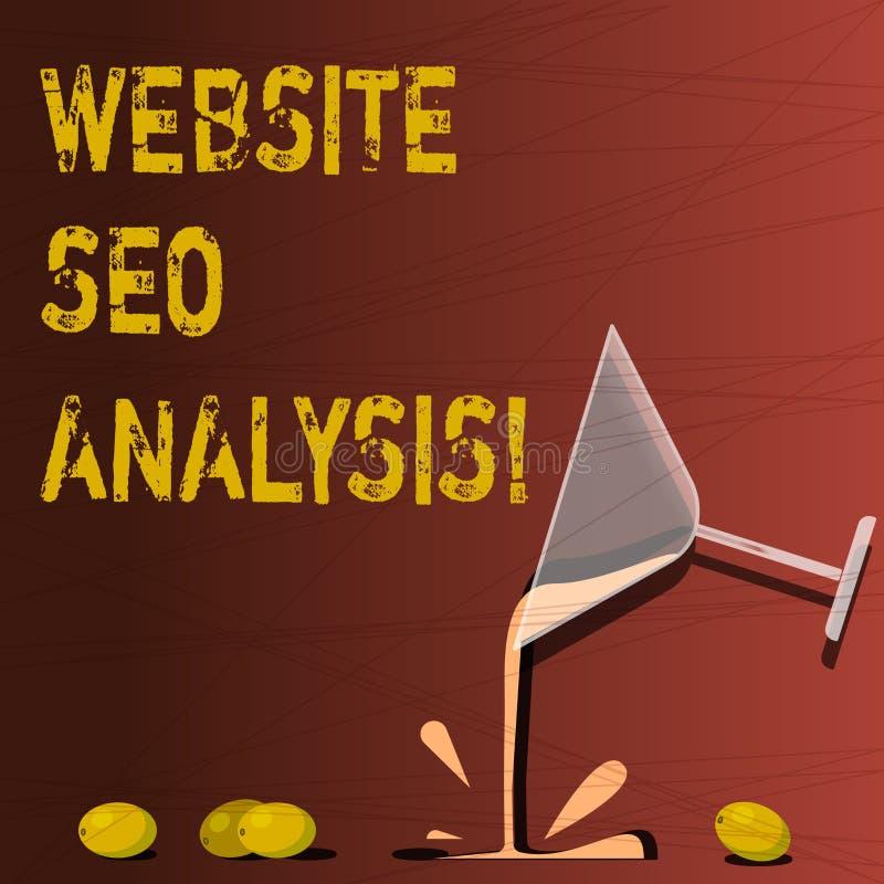 Site Web Seo Analysis d'apparence de signe des textes Processus conceptuel de photo d'apporter des modifications pour augmenter l illustration stock
