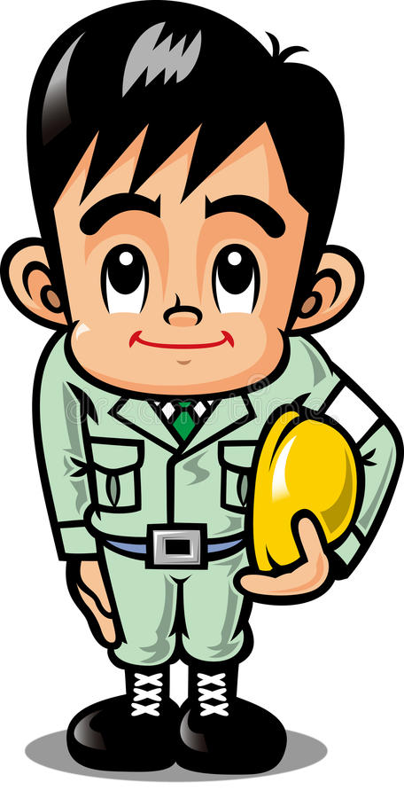 Site worker. Field workers for the guidance of the under construction royalty free illustration