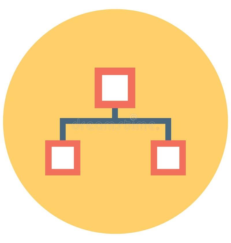 Sitemap隔绝了可以容易地修改或编辑的传染媒介象 库存例证