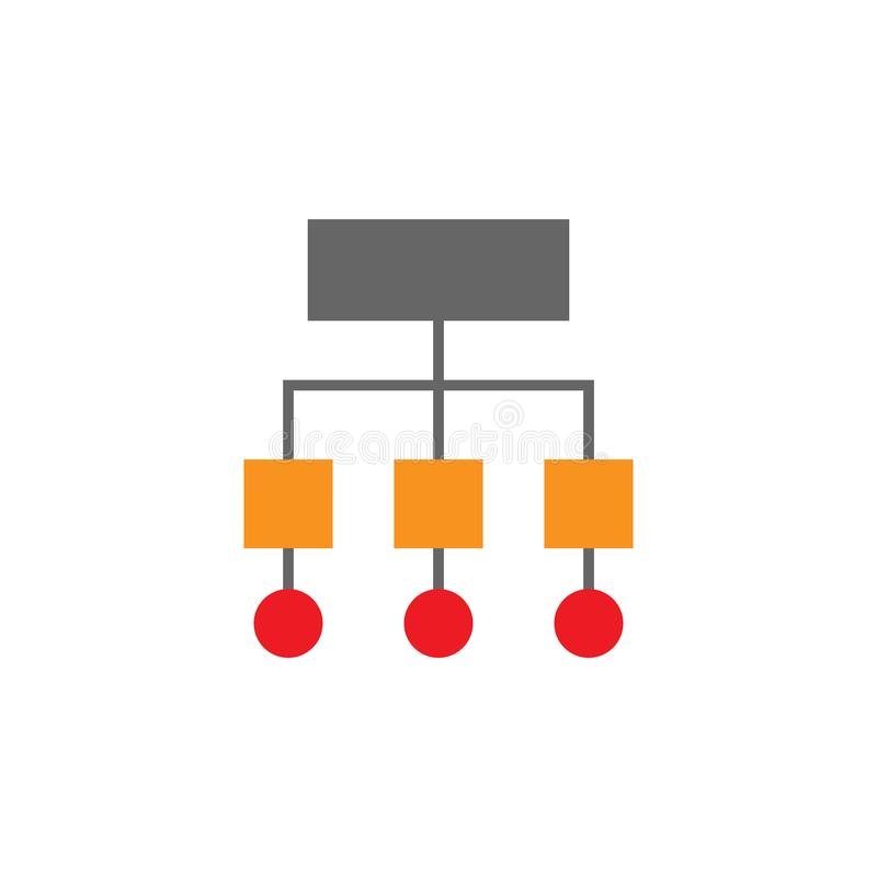 Sitemap, ícone do símbolo Elemento do ícone de Desing da Web para apps móveis do conceito e da Web Sitemap detalhado, ícone do sí ilustração royalty free