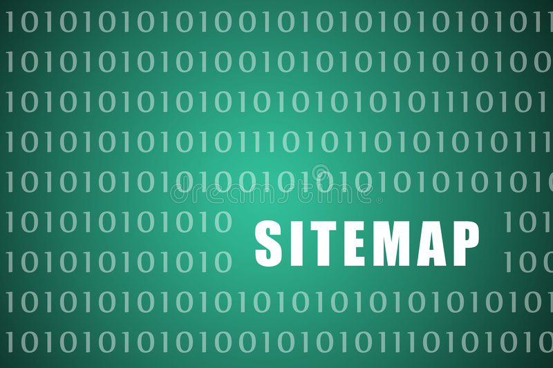 Sitemap. Abstract on a Digital Website Background stock illustration