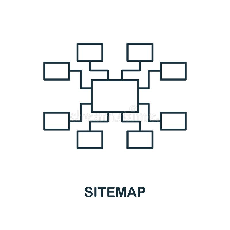 Sitemap creative icon. Simple element illustration. Sitemap concept symbol design from seo collection. Perfect for web design, app. Sitemap creative icon. Simple vector illustration