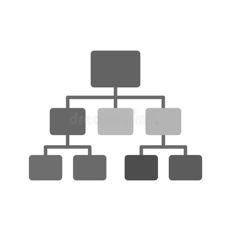 Sitemap. Flow chart, site map, hierarchy icon image. Can also be used for software development. Suitable for use on web apps, mobile apps and print media stock illustration
