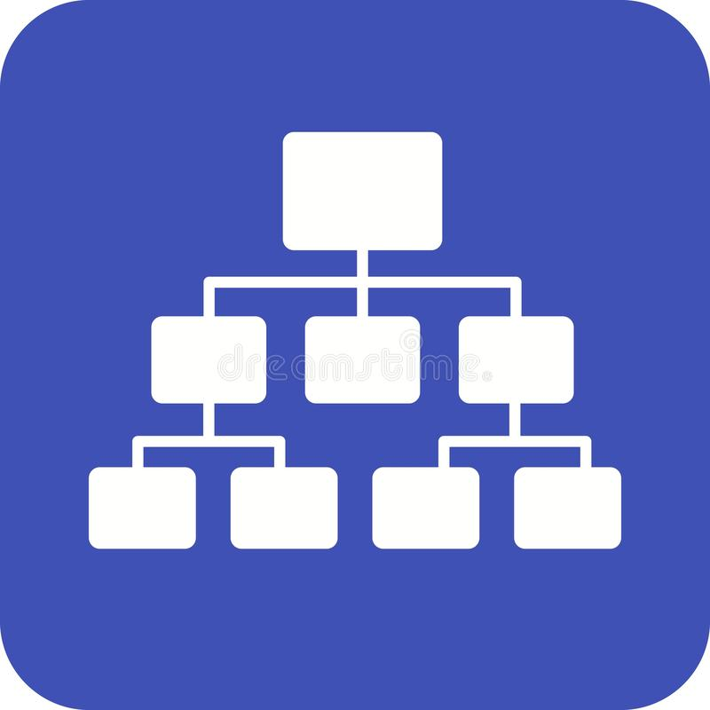 Sitemap. Flow chart, site map, hierarchy icon vector image. Can also be used for software development. Suitable for use on web apps, mobile apps and print media royalty free illustration