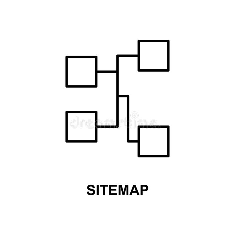 Sitemap icon. Element of simple web icon with name for mobile concept and web apps. Thin line sitemap icon can be used for web and. Mobile on white background royalty free illustration