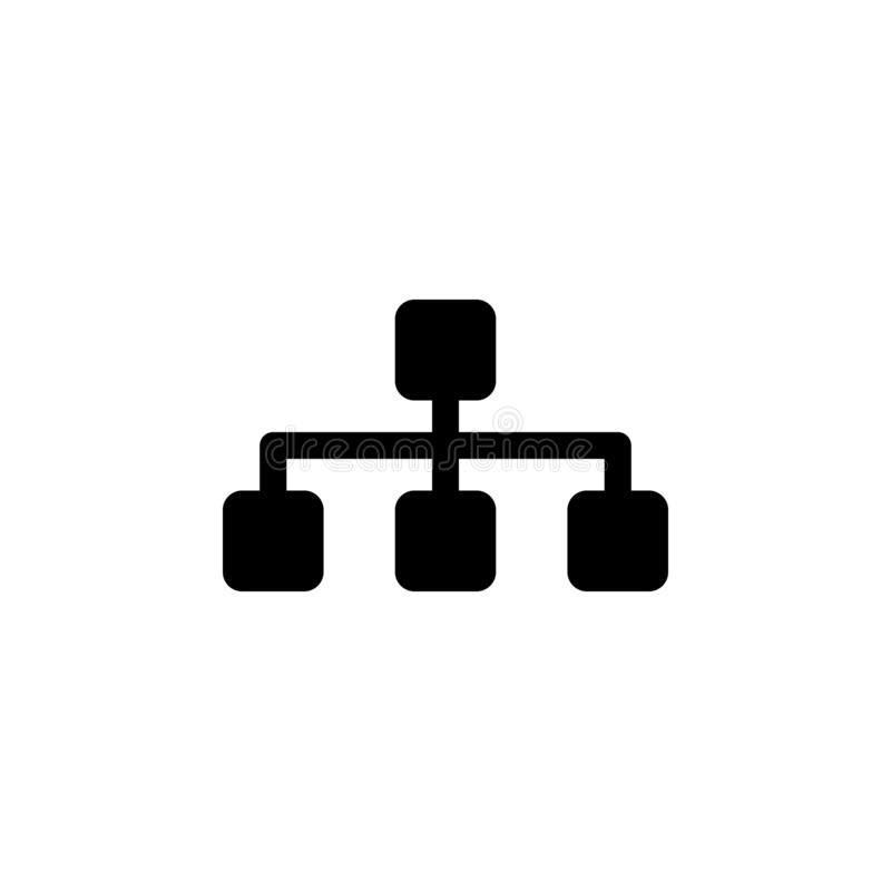 Sitemap icon. Signs and symbols can be used for web, logo, mobile app, UI, UX vector illustration