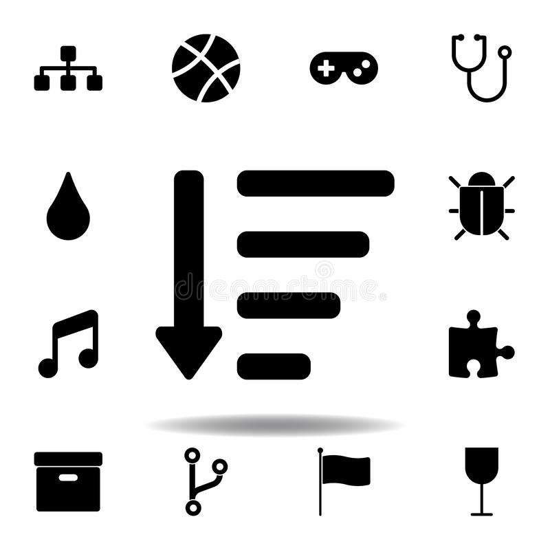 Sitemap icon. Signs and symbols can be used for web, logo, mobile app, UI, UX. On white background stock illustration