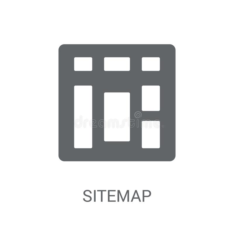 Sitemap icon. Trendy Sitemap logo concept on white background fr. Om Programming collection. Suitable for use on web apps, mobile apps and print media stock illustration