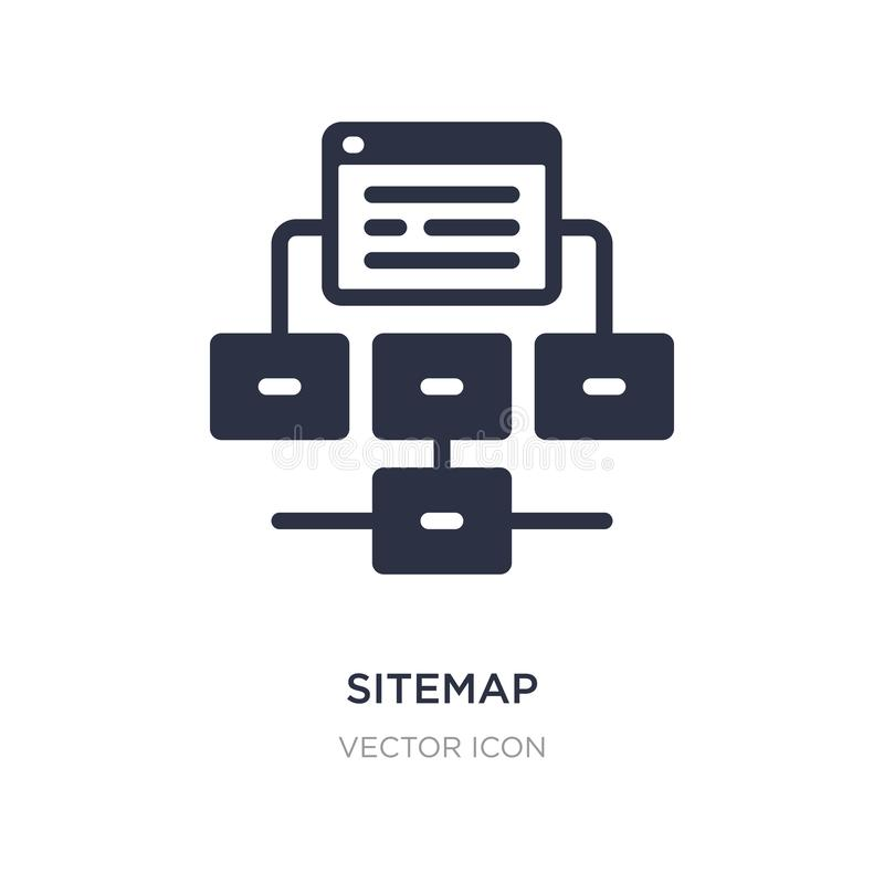 sitemap icon on white background. Simple element illustration from Search engine optimization concept vector illustration