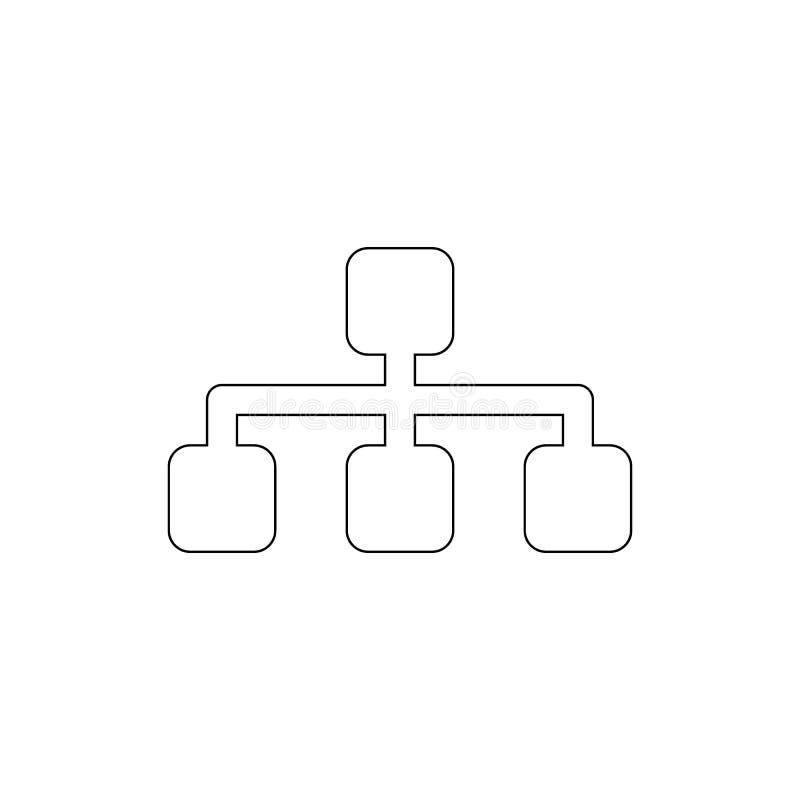 Sitemap konturu ikona Znaki i symbole mog? u?ywa? dla sieci, logo, mobilny app, UI, UX royalty ilustracja