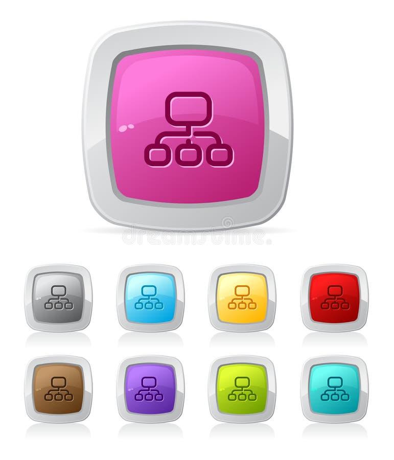 sitemap lustré de bouton illustration libre de droits
