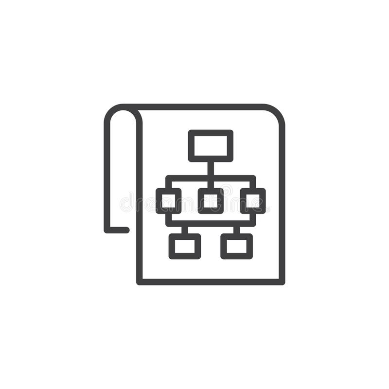 Sitemap outline icon royalty free illustration