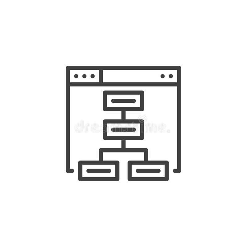 Sitemap outline icon vector illustration