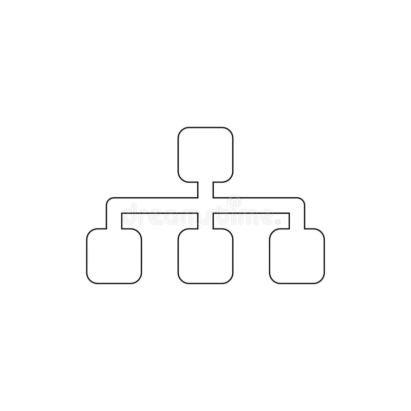 Sitemap outline icon. Signs and symbols can be used for web, logo, mobile app, UI, UX. On white background royalty free illustration