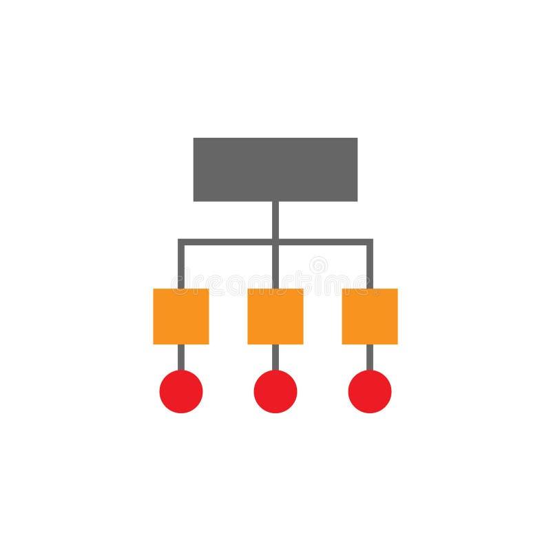 Sitemap, symboolpictogram Element van het pictogram van Webdesing voor mobiele concept en webtoepassingen Gedetailleerde Sitemap, royalty-vrije illustratie
