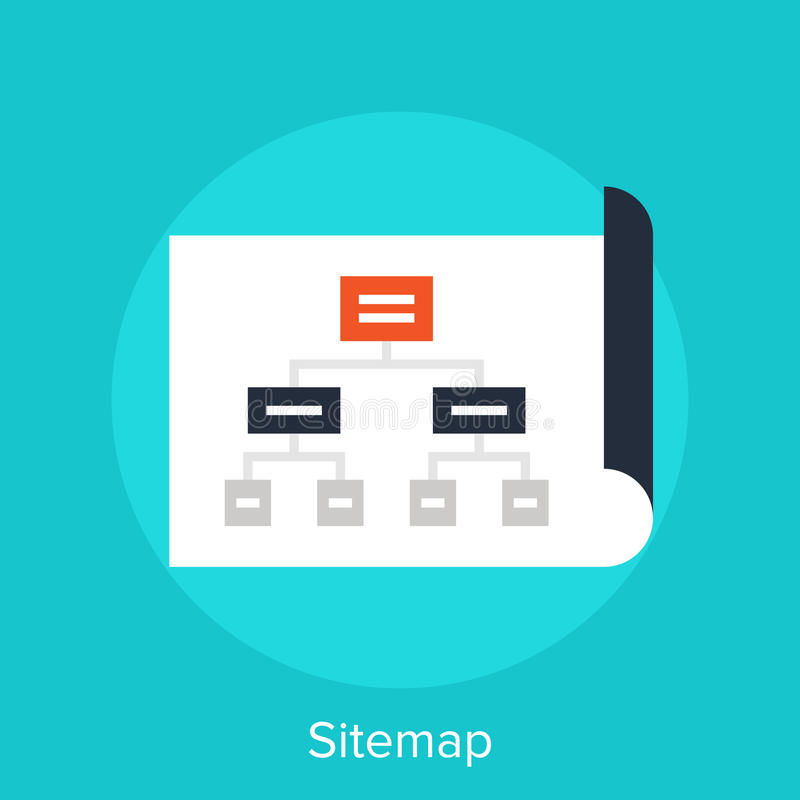 Sitemap. Vector illustration of sitemap flat design concept stock illustration