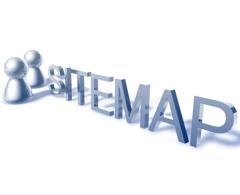 Sitemap word graphic stock illustration