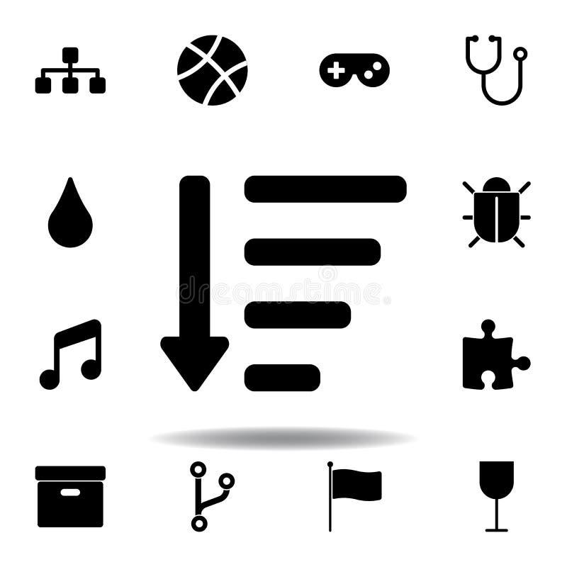 Sitemappictogram De tekens en de symbolen kunnen voor Web, embleem, mobiele toepassing, UI, UX worden gebruikt stock illustratie