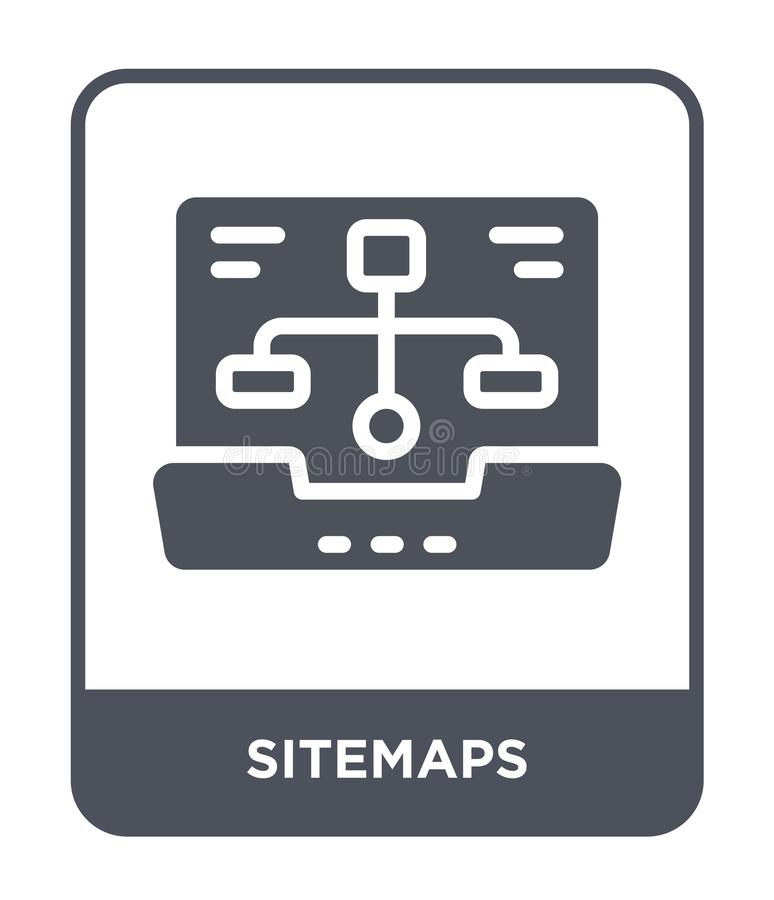 sitemapssymbol i moderiktig designstil sitemapssymbol som isoleras på vit bakgrund enkel och modern lägenhet för sitemapsvektorsy vektor illustrationer